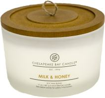 Chesapeake Bay Candle 3-Wick Scented Candle, Milk & Honey, Coffee Table Jar
