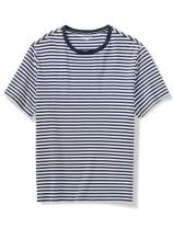 Amazon Essentials Men's Big & Tall Short-Sleeve Stripe Crew T-Shirt fit by DXL