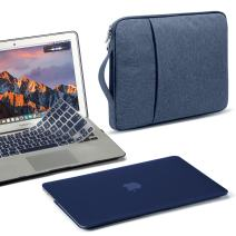 GMYLE MacBook Air 13 Inch Case A1466 A1369 Old Version 2010 2017, 13 13.3 Inch Handle Carrying Sleeve Bag and Keyboard Cover 3 in 1 Set (Navy Blue)