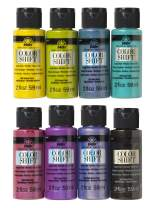 FolkArt PROMOCS8 Color Shift Glossy Metallic Finish Acrylic Craft Paint Set Designed for Beginners and Artists, Non-Toxic Formula Perfect for Indoor and Outdoor Projects, 2 oz, 8 Fl Oz