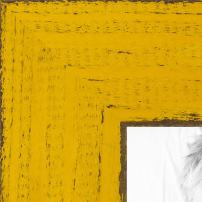 ArtToFrames 4x6 inch Weathered Barnwood in Saturated Yellow Wood Picture Frame, WOMSM-ECO150-YEL-4x6