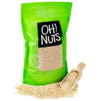 Oh! Nuts White Quinoa Bulk 3LB Seeds | Grain-Like Plant Protein Source, Cooking & Kosher Certified Pantry Items | Superfood Survival Bag Healthy Dried Food Staple for Gluten-Free, Vegan & Paleo Diets