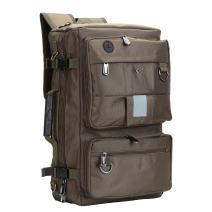 BISON DENIM Vintage Polyester Backpack Travel Hiking Duffle Bags Rucksack Men Backpack Shoulder Bag Army Green