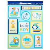 American Greetings Baby Gift Bag, Jumbo, Blue