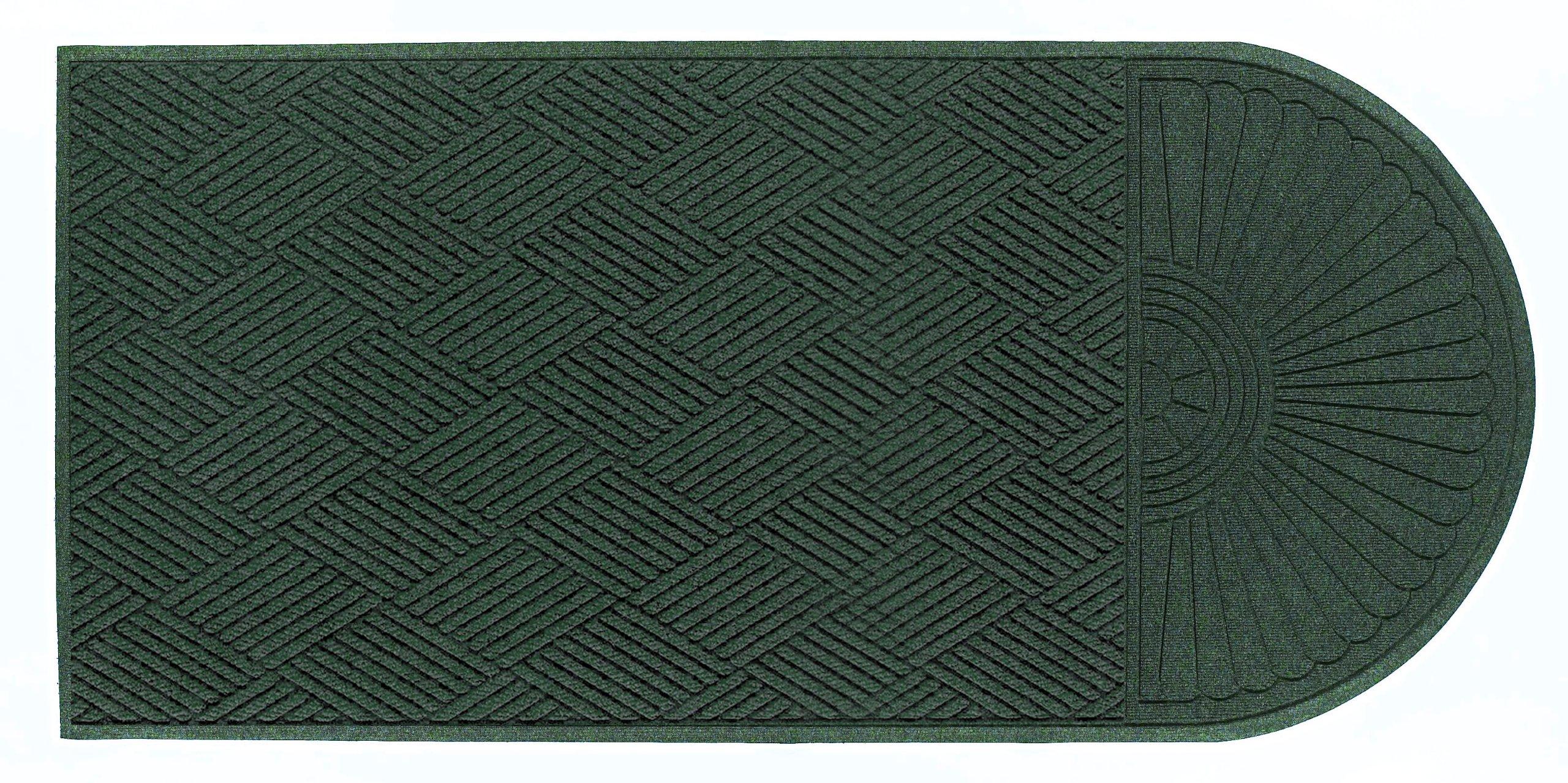 "M+A Matting 22248 Waterhog Eco Grand Premier PET Polyester Fiber Single End Entrance Indoor/Outdoor Floor Mat, SBR Rubber Backing, 5.9' Length x 4' Width, 3/8"" Thick, Southern Pine"