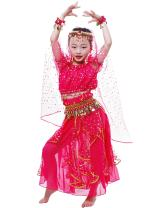 Astage Little Girl/Big Girl Elegant Belly Dance Costume Set,All Accessories