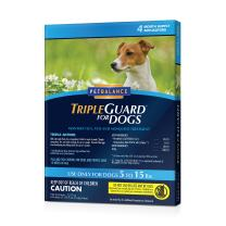 PetBalance TripleGuard Flea & Tick Treatment for Dogs, 4 Month Supply