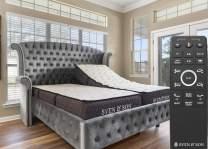 "Sven & Son Split King Adjustable Bed Base Frame (Head Tilt) + 12"" Luxury Cool Gel Memory Foam Mattress, Head & Foot USB Ports, Zero Gravity, Interactive Dual Massage, Wireless, Classic (Split King)"