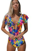 Telaura High Waist Flounce Bikini Set Women Swimsuit Beachwear