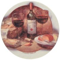 Thirstystone Drink Coaster Set, Wine and Cheese