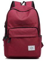 Mn&Sue Sturdy Waterproof Vintage Backpack School Bags Medium Backpacks College Purses For Women Red
