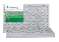 FilterBuy 13x21.5x1 MERV 8 Pleated AC Furnace Air Filter, (Pack of 4 Filters), 13x21.5x1 – Silver