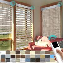 """XINGXUN High Precision Customized Color and Size Built-in Battery Smart Home Motorized Window Roller Zebra Shades/Blinds Guaranteed Accuracy in 0.1"""""""