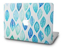 """KECC Laptop Case for MacBook Air 13"""" Plastic Case Hard Shell Cover A1466/A1369 (Leaf - Green Blue)"""