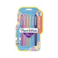 Paper Mate Flair Felt Tip Pens, Medium Point (0.7mm), Tropical Colors, 6 Count