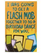 American Greetings Funny Flash Mob Birthday Card