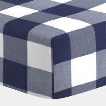 Carousel Designs Navy and White Check Crib Sheet
