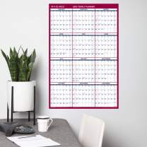 "AT-A-GLANCE Large Dry Erase Wall Calendar 2020, Erasable, Monthly & Yearly Whiteboard Planner, Home Shool & Home Office Organization, 36"" x 24"", Double Sided, Vertical/Horizontal (PM26B28)"
