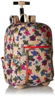 Vera Bradley Women's Lighten Up Rolling-Backpack, Falling Flowers Neutral
