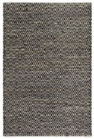 Fab Habitat, Jute & Recycled Cotton Area Rug/Floor Mat, Eco-Friendly Natural Fibers, Handwoven - Madera/Black & Natural, 3' x 5'
