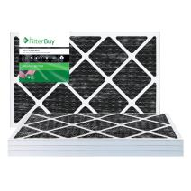 FilterBuy Allergen Odor Eliminator 24x30x1 MERV 8 Pleated AC Furnace Air Filter with Activated Carbon - Pack of 4-24x30x1