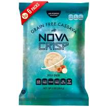 VEGAN Snacks, Healthy Natural Poppped Chips CASSAVA, Gluten Free, Non GMO (Maui Onion, 1 Ounce (Pack of 6))