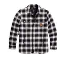 Harley-Davidson Men's Reinforced Slim Fit Riding Shirt Jacket, Black