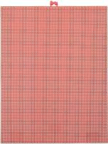"""Darice 7 Mesh Christmas Red Plastic Canvas – Create a Variety of Fun Plastic Canvas Crafts Including Bookmarks, Picture Frames, Pins and More – 1 Sheet, 7 Holes Per Inch, 10.5""""x13.5"""" Per Sheet"""