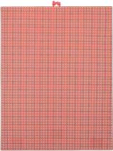 "Darice 7 Mesh Christmas Red Plastic Canvas – Create a Variety of Fun Plastic Canvas Crafts Including Bookmarks, Picture Frames, Pins and More – 1 Sheet, 7 Holes Per Inch, 10.5""x13.5"" Per Sheet"