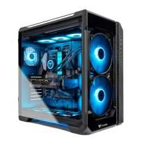 Thermaltake LCGS View 380 AIO Liquid Cooled CPU Gaming PC (AMD RYZEN 9 3900X 12-core, ToughRAM DDR4 3600Mhz 16GB RGB Memory, RTX 3080 10GB, 1TB M.2, Win 10 Home) V51B-X570-V38-LCS, Black