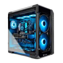 Thermaltake LCGS View 380 AIO Liquid Cooled CPU Gaming PC (AMD RYZEN 9 3900X 12-core, ToughRAM DDR4 3600Mhz 16GB RGB Memory, RTX 3080 10GB, 1TB M.2, Win 10 Home) V51B-X570-V38-LCS, Black