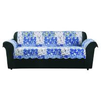 SureFit Heirloom Quilted Pet - Sofa Slipcover - Bluebell Floral