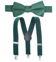 "Hold'Em Suspender Bow Tie Set for Kids, Baby Pre-tied Bow Tie, 1"" Suspender"