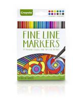 Crayola 58-7713 Fineline Markers 12 Vibrant Colors with Fine Tips