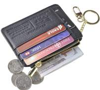 Womens Keychain Wallets Gift to Wife Mom Daughter Grandma Card Holder Gift for Christmas Birthday Anniversary Coin Purse Gift Box