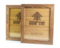 Rustic Wooden Picture Frame 8x10 - Made to Display Pictures 8x10 - Set of 2-100% Natural Eco Wood with Real Glass for Wall Mounting Walnut Photo Frame