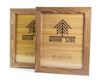 Rustic Wooden Picture Frame 5x7 Inch - Set of 2- Natural Distressed Wood with Real Glass for Wall and Table Top Display - Walnut