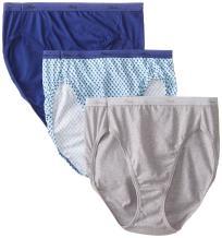 Cotton Hi-Cut Panties 6 Pack, Assorted (Size 6)
