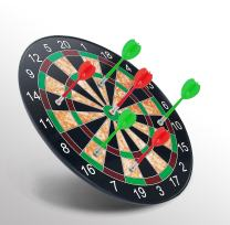 QUQUMA Minihorse-Magnetic Dart Board & Plastic Magnetic Darts Target Game Toys (Red Green) Durable and Safe Gifts for 6-18 Year Old Boys&Girls