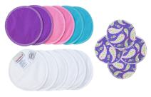 ImseVimse Reusable Organic Cotton Stay Dry Nursing Pad Inserts and Cleansing Pads