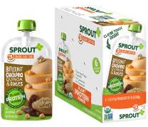 Sprout Organic Stage 3 Baby Food Pouches with Plant Powered Protein, Butternut Chickpea Quinoa & Dates, 4 Ounce (Pack of 6)