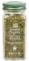 Simply Organic Grilling Seasons Vegetable Seasoning, 2.2 Ounce