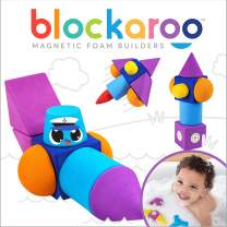 Blockaroo Magnetic Foam Building Blocks - The Ultimate Bath Toy for Toddlers! This Soft Foam STEM Toy Develops Early Learning Skills. Makes Bath Time Fun, Creative, and Educational - Speedboat Set