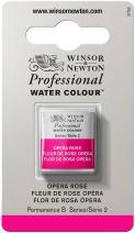 Winsor & Newton Professional Water Colour Paint, Half Pan, Opera Rose