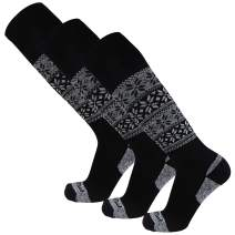 Pure Athlete Alpaca Ski Socks – Men Warm Wool Sock, Women Skiing, Snowboarding