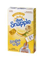 Diet Snapple Singles To Go Water Drink Mix - Lemon Tea Flavored Powder Sticks (12 Boxes with 6 Packets Each - 72 Total Servings) - ORIGINAL FLAVOR
