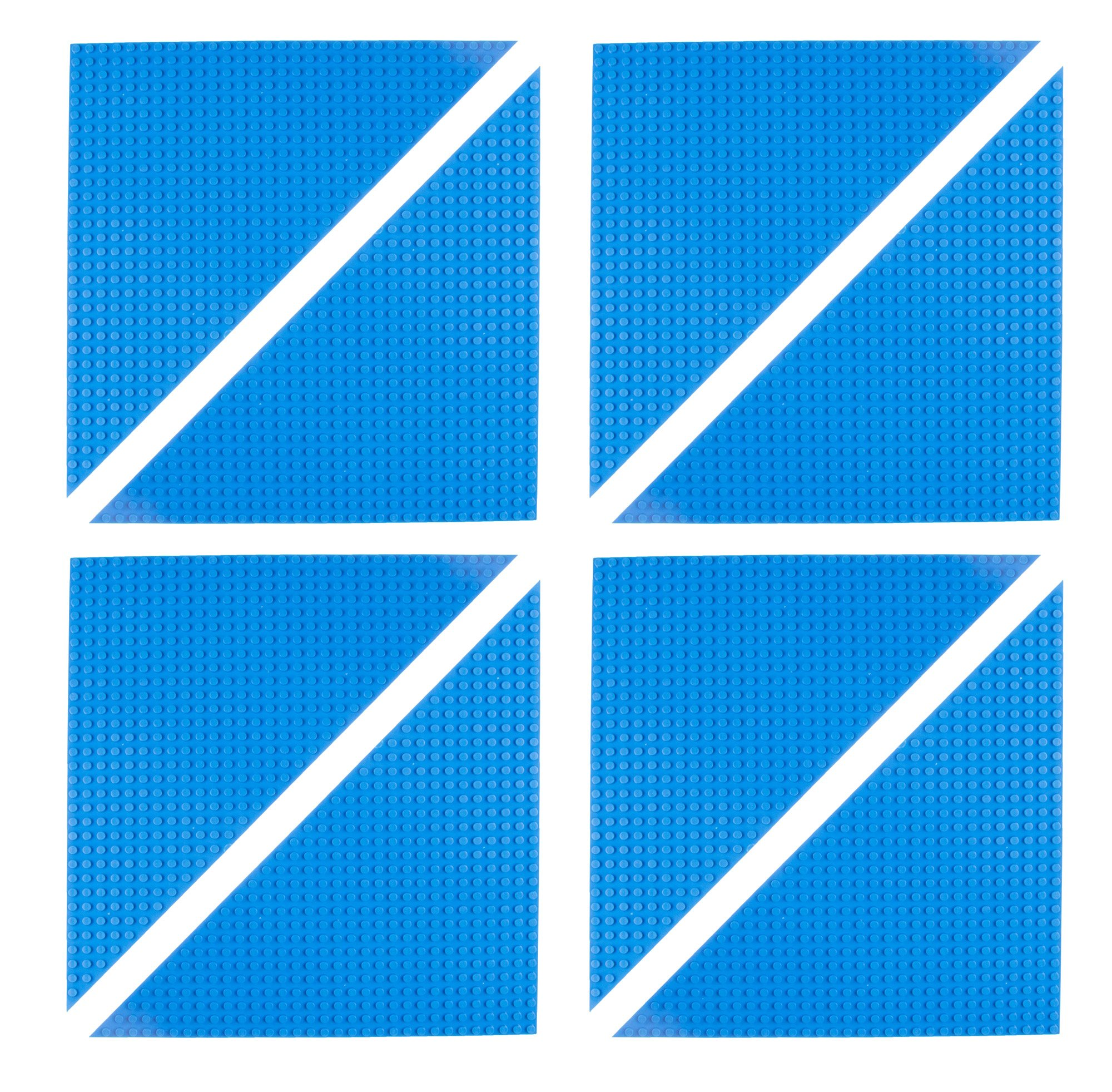 """Strictly Briks Classic 10"""" Triangle Baseplates Building Brick Base Plates 
