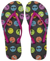 Showaflops Womens' Antimicrobial Shower & Water Sandals for Pool, Beach, Dorm and Gym - Bold and Bright Collection