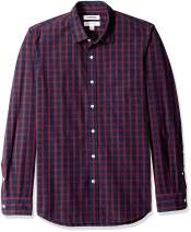 Amazon Brand - Goodthreads Men's Slim-Fit Long-Sleeve Plaid Poplin Shirt