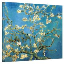 ArtWall Almond Blossom by Vincent Van Gogh Gallery Wrapped Canvas Art, 36 by 48-Inch